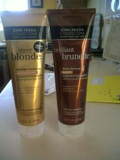 John frieda various conditioners brillant brunette/sheer blonde in 99p stores