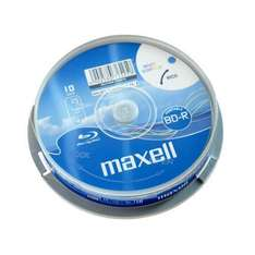 Maxell Blank BD-R Blu-ray Disc 4x 25GB / 10 Spindle Pack / Printable - £9.99 @ Play