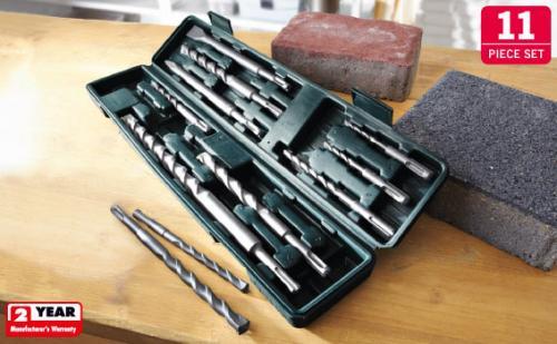 11 Piece Heavy Duty SDS-Plus Bit Set £7.99 @ lidl from 12/5/2011