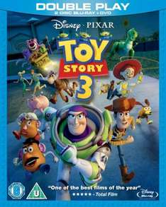 Toy Story 3 - Double Play (Blu-ray + DVD) - £9.85 @ The Hut & Zavvi
