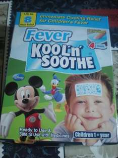 Fever kool'n' soothe gel sheets 4 sheets £0.99 from 99 stores instore.