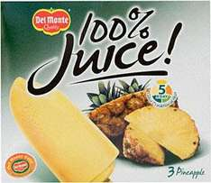 Del Monte Smoothie Lollies or Pineapple Juice Lollies 3 pack £1 at Tesco
