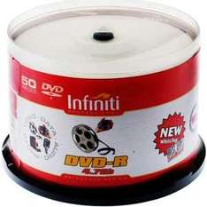 Infiniti DVD-R Professional Reference Series 16x - Classic Finish - 50 Spindle Pack - £6.99 @ 7dayshop