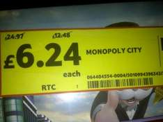 Monopoly City Board Game Reduced From £24.97 to £6.24 @ Tesco (Instore)