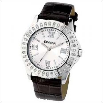 Coleen Ladies Black Stone Set Watch - £9.98 @ eBay Argos Outlet
