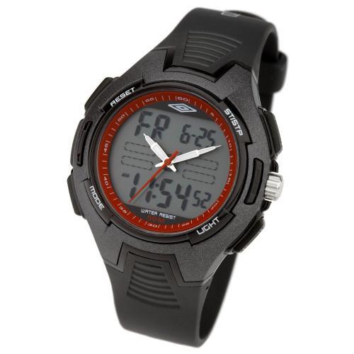 Umbro Analogue Digital Watch with Black Strap - £8 @ Amazon