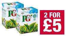 PG Tips 160 Pyramid Tea bags 500g - 2 for £5 @ Co-Op