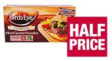 Birds Eye Premium 100% Beef Quarter Pounders (4 pack) - half price £1.49 @ Co-op