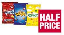 Walkers Quavers / Wotsits / Squares - 14 pack - £1.82 at Co-op