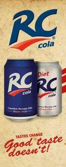 6 x 330ml pack cans of American R C cola and diet cola  £1 @ Asda