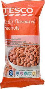 Tesco Chilli Flavoured  Peanuts 200g for 44p @ Tesco