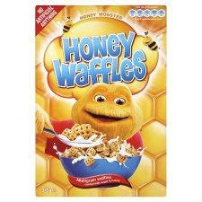 """Honey Monster """"Honey Waffles"""" 375g  @  Co-op  £1"""
