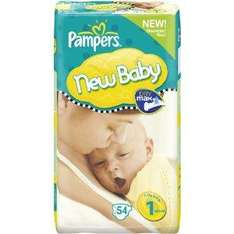 Pampers New Baby 2 x Economy Packs Sizes 1, 2 & 3 - £9.73 delivered @ Amazon
