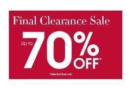 Still Some Items left in the Debenhams 70% Sale
