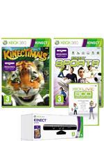 Kinect (inc. Kinect Adventures) + Kinectimals + Kinect Sports + 800 Microsoft Points + 4000 Bonus Reward Points (worth £10) - £129.99 @ Game