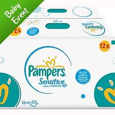 Pampers baby wipes x12 £7 instore @ Asda
