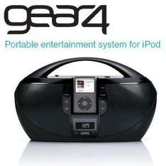 Gear4 iPod Portable Music System with CD Player and Radio- 2 Years Warranty - £29.90 Delivered @ iBood