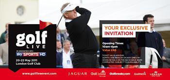 Free Golf Live Event Tickets (Kent) @ Sky Rewards