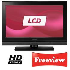 "Sharp 26"" HD Ready LCD TV with built-in Freeview - £199 @ Tesco Direct + Quidco (3%)"