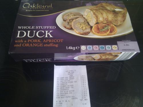 Easy Carve Whole Duck Stuffed With Pork, Apricot & Orange Stuffing £4.99 @ Aldi
