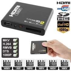 TurnMeOn Cyclone Micro HD Movie Player V2 + FREE HDMI Cable - £18.18 @ Dealtastic