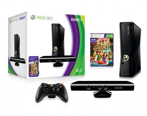 Xbox 360 Slim Console: 250GB + Kinect Sensor + Kinect Adventures + 12 Months Xbox Live Gold - £234.99 @ Amazon