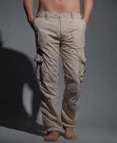 Men's Beige Superdry Cargo Pants - £19.99 @ eBay Superdry Outlet