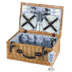 Sandringham Luxury 4 Person Wicker Pinic Basket (Littlewoods-clearance Ebay) £28.99 Delivered (RRP:£69.99)