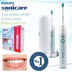2-Pack Philips Sonicare Healthy White Rechargeable Toothbrush + compact ProResults brush head - £57.90 @ iBood