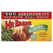 Mr. Brain's Pork Faggots 6 pack (714g) - £1.00 @ Tesco