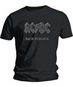 AC/DC - Back in Black - Men's T-Shirt - £5.99 + £1.99 Postage @ eBay Argos Outlet