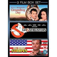 3 Film Box Set: Groundhog Day / Ghostbusters / Stripes (DVD) - £5.99 @ Amazon & Play