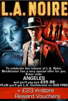 L.A Noire (Xbox 360) (PS3) - £35.99 Plus FREE DVD with Code @ Blockbuster.co.uk