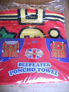 Cute Beefeater Children's Poncho Towel - Only £1.99 @ Home Bargains