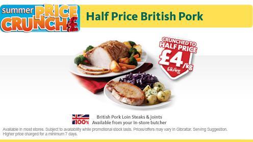 Morrisons fresh loin of pork £4kg