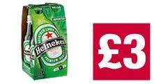4 pack of 330ml Heineken for only £3 @ the Cooperative