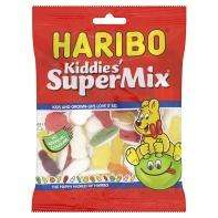 Haribo Kiddies' Super Mix (200g)  Haribo Starmix (200g)  Haribo Funny-Mix Sweets (200g)  Haribo Tangfastics (200g) All 50p each instore and online @ ASDA