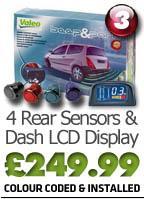 4 Rear Reversing Sensors with Dashboard Mounted, Digital Display & Audio Alert - £83.96 @ Costco
