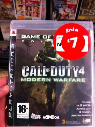 Call of Duty 4: Modern Warfare GOTY Edition (PS3) - £7 @ Asda (Instore)