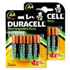 Duracell Rechargeable Accu Supreme 2450mA 8 pack for £8.80 at Amazon.co.uk