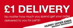 £1 delivery no minimum spend at Matalan