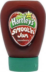 Hartley's Smooth Strawberry Jam Squeezy (330g)40p @ Tesco