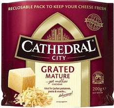 Cathedral City Grated Cheddar (200g) only £1 @ Morrissons