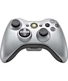 Xbox 360 Wireless Controller with Play and Charge - Silver - £29.99 @ Argos