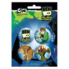 Ben 10 Alien Force: Alien Force Badge Pack (4 badges) only 99p delivered @ Play