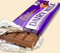 Cadbury's Dairy Milk chocolate  -  280 gms (2 x 140gm bar twinpack) for 50p at Superdrug instore