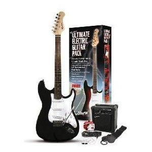 Rockburn ST Style Electric Guitar Pack - Black - £82.79 Delivered @ Amazon