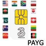 Three Sim Card (PAYG) with £10 Credit  - Delivered - Expansys - £3.68