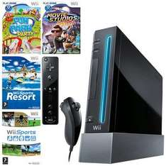 Wii bundles at Toys R Us Black Console + Wii Sports+Wii Sports Resort+Wii Fun Party+Wii Movie Studios Party £129.99 3 day deal.