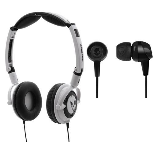 Skullcandy Lowrider Headphones White / Black & In Ear Earphones Double Pack RRP £49.99 Now £17.99 @play.com